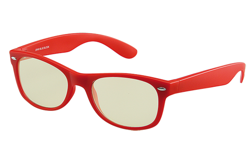 Computerbril rood zonder sterkte met blueblock filter