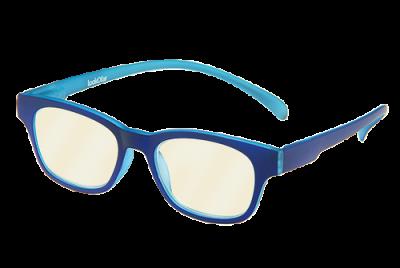 Blueblock computerbril op sterkte blauw montuur