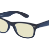 donkerblauwe blueblock computerbril zonder sterkte
