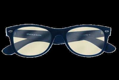 Blueblock computerbril zonder sterkte in donkerblauw