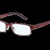 multifocale computerbril met rood montuur