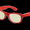Rode bril zonder sterkte met blueblock filter