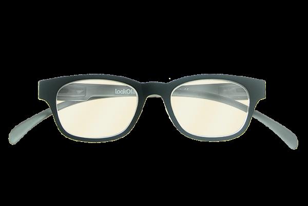 Blueblock Computerbril Zwart op sterkte voorkant