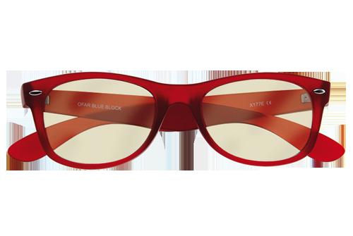 Blueblock rood model bril